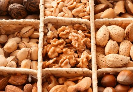 Les fruits oléagineux riches en matières grasses