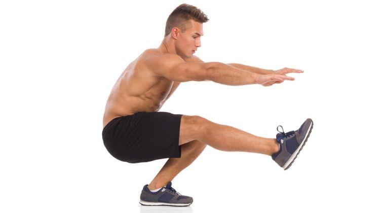 Exercice squat une jambe