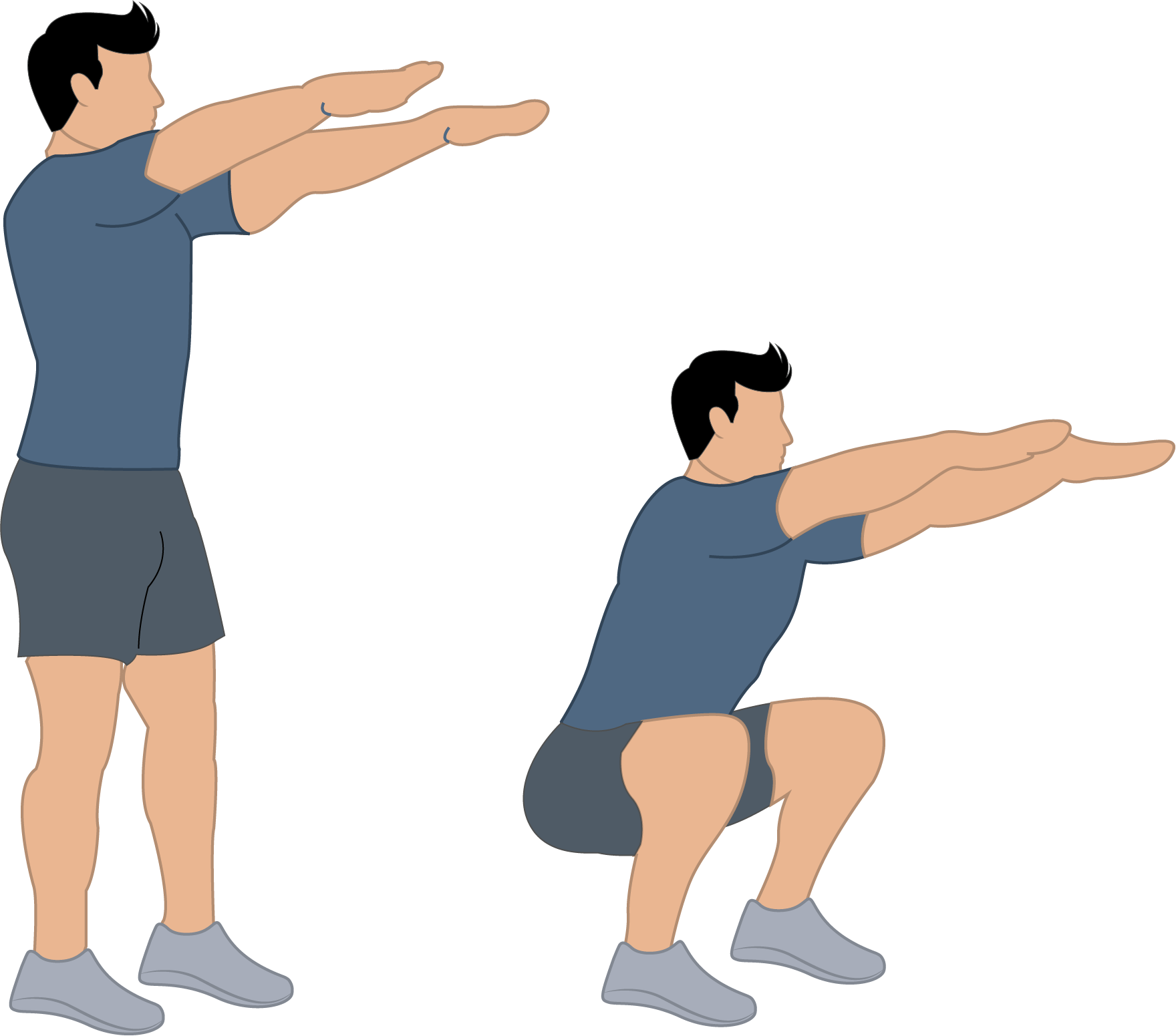Exercice du squat