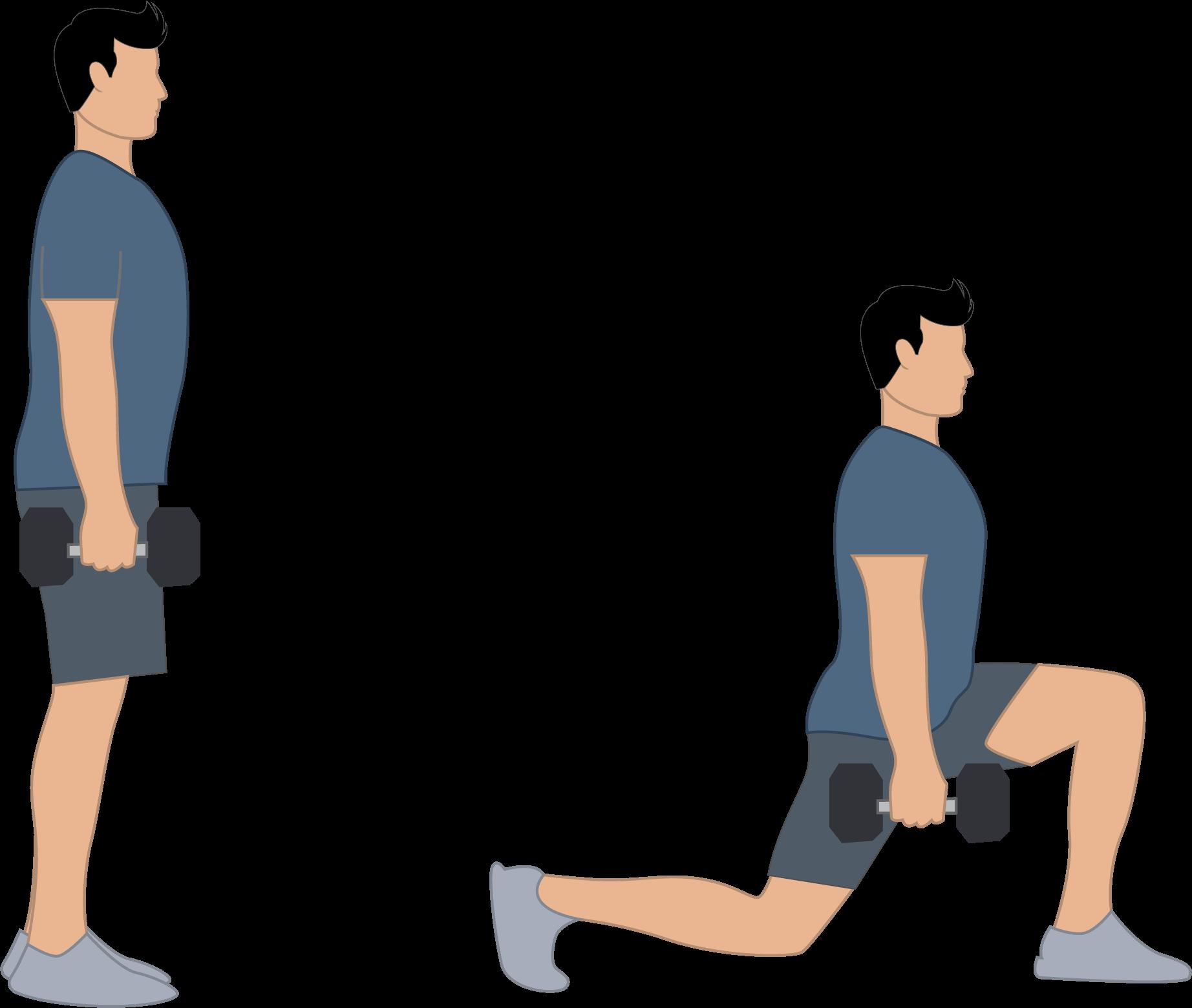 L'exercice des fentes pour les hanches