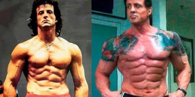 Sylvester stallone musculation