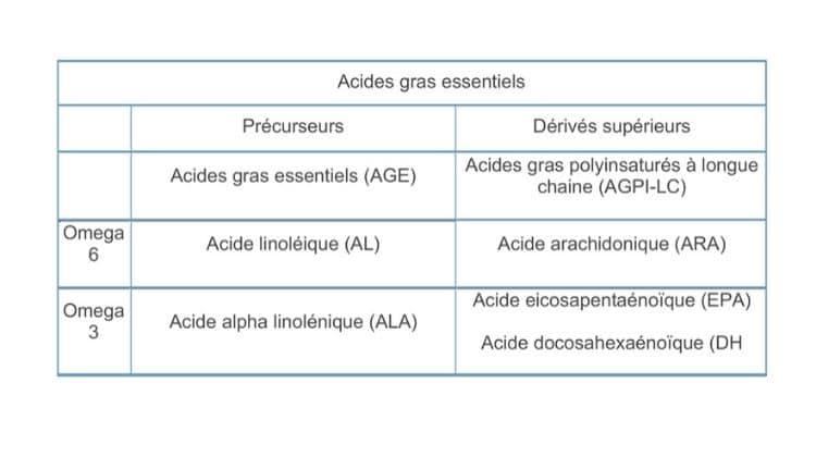 Les acides gras avec le cla
