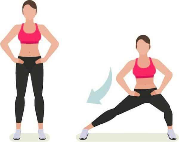 Les fentes latérales pour se muscler avec un genu valgum