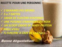 Recette shaker whey protéine flocon d'avoine