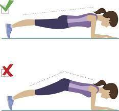 Gainage posture