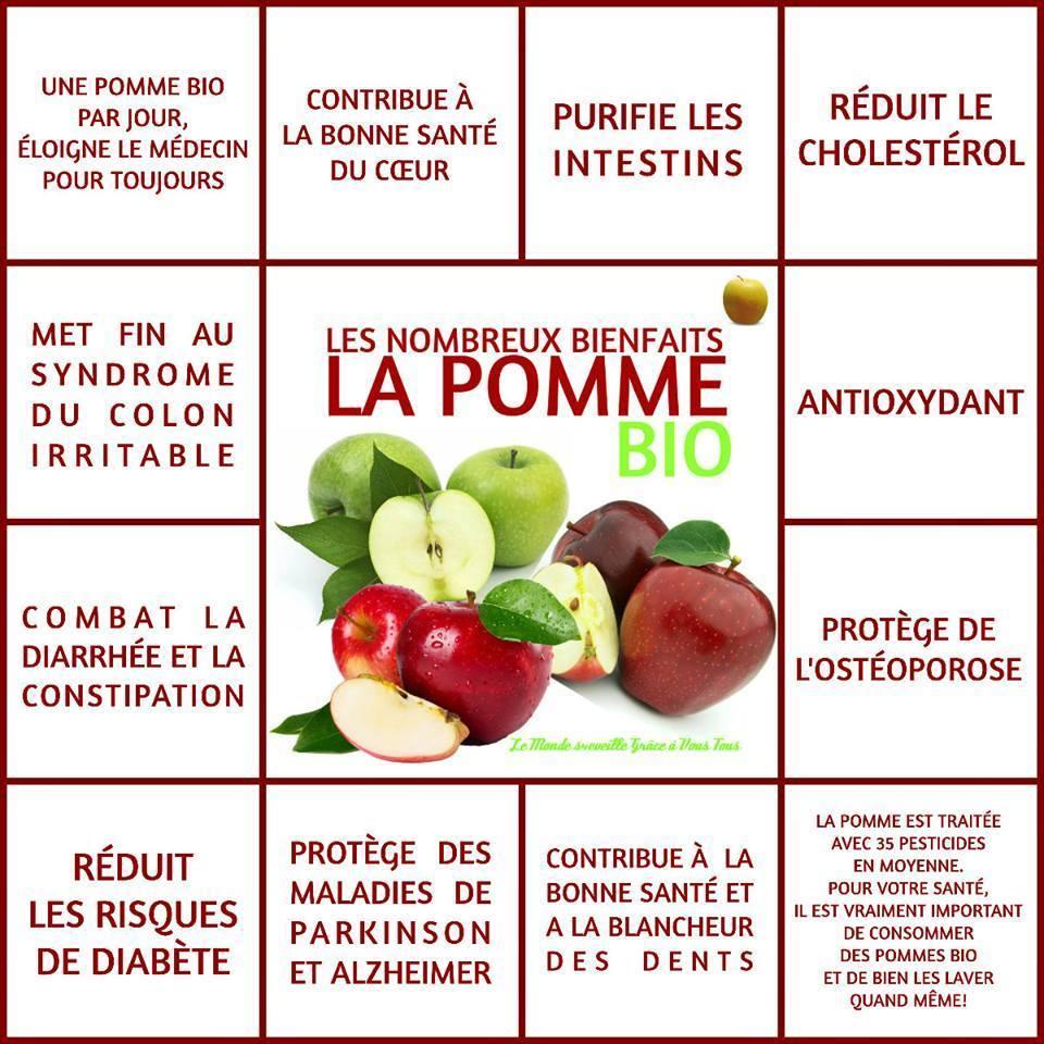 bienfaits pomme